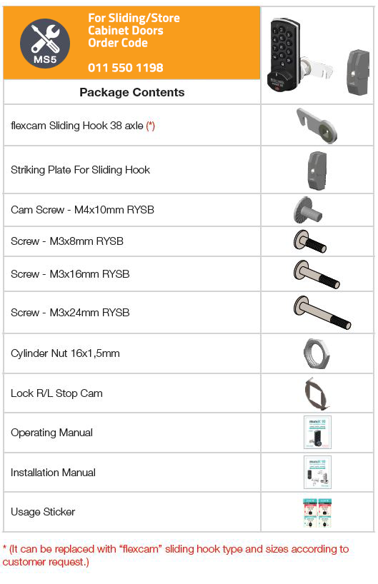MOUNTING SET 5 (Sliding/Store Door)
